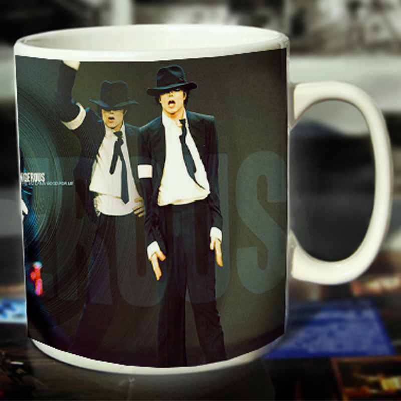 New Michael Jackson Ceramic Coffee Mug White Color Or Color Changed Cup Dangerous---Loveful