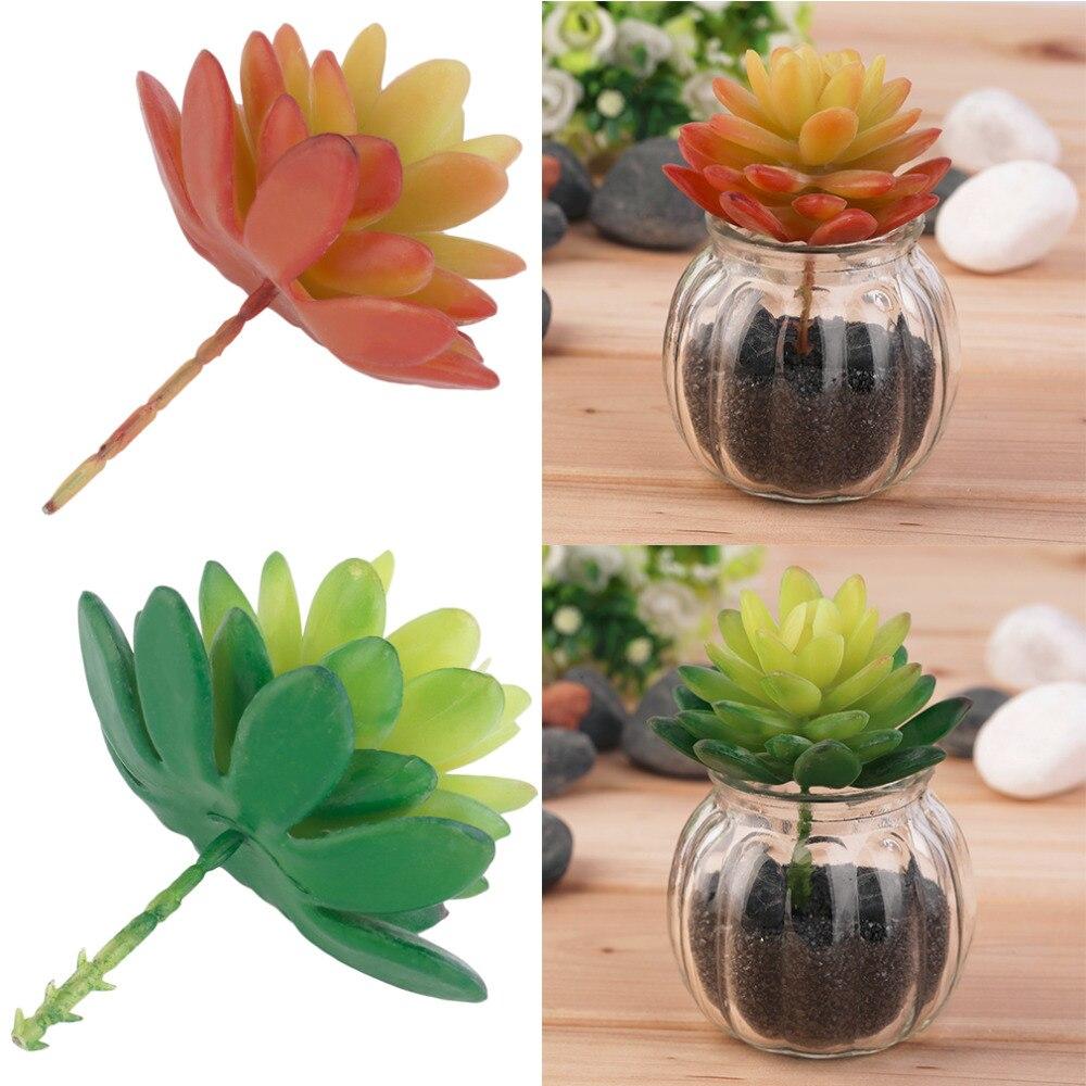 NUEVA Hierba Verde Artificial plástico Plantas suculentas Loto Planta Artificial