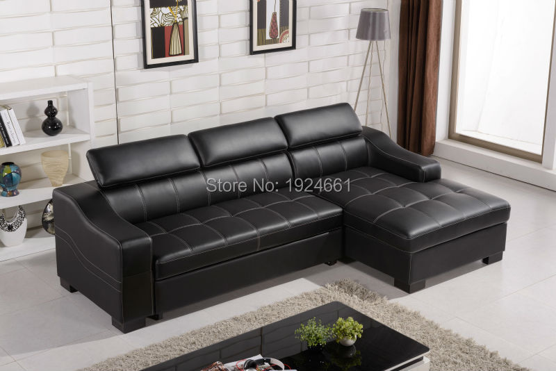 2019 Chaise Beanbag Bean Bag Chair Sectional Sofa Sofas For Living Room European Style Set New Arrival Functional Real Leather