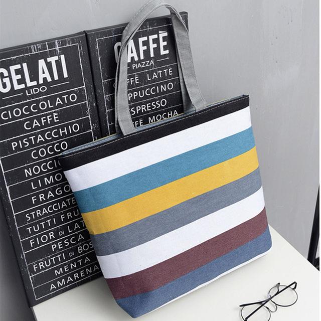 Fashion Character Design Women's Handbag Durable Canvas Blank Shoulder Bag Plain Black Color Casual Tote Reusable Shopping Bags