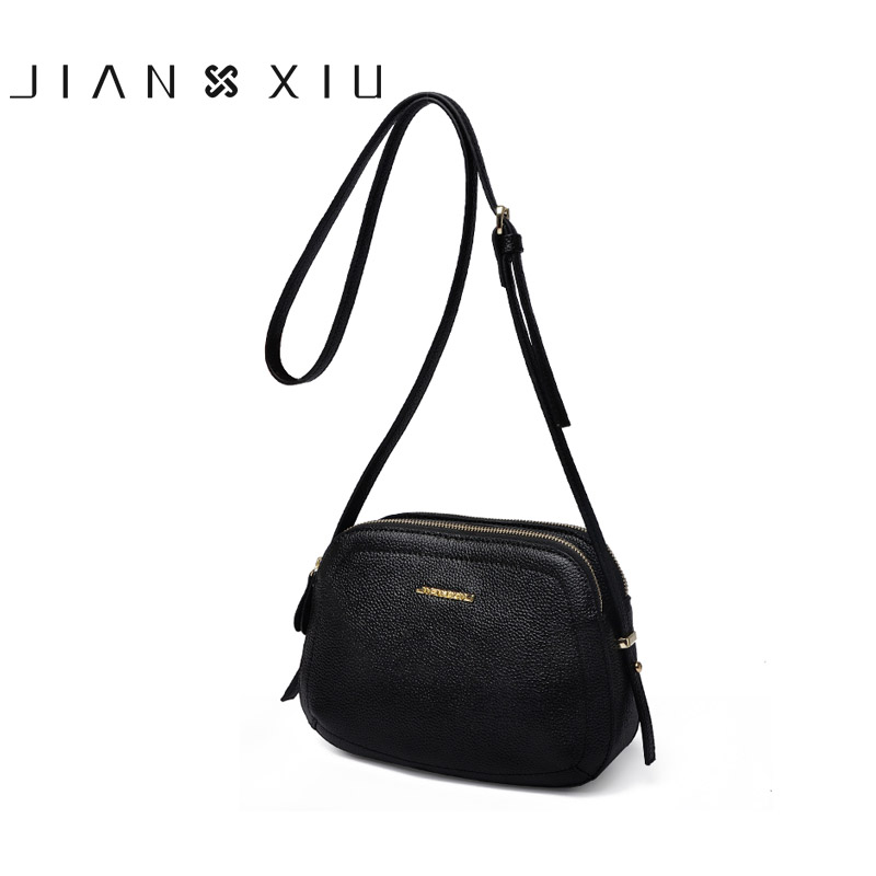 JIANXIU Genuine Leather Bag Bolsa Bolsos Mujer Sac a Main Women Messenger Bags Bolsas Feminina Shoulder Crossbody Small Bag 2017 jianxiu handbags women messenger bags bolsa feminina sac a main bolsos mujer tassen nylon waterproof shoulder crossbody tote bag