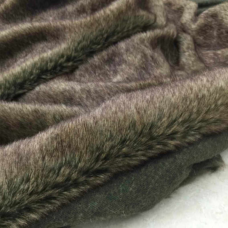 Хороший наконечник коричневая ткань искусственный мех иммитат Rabit Мех 2 см длинный мягкий теплый плюшевый мех Ткань DIY меховой воротник одежда верхняя одежда