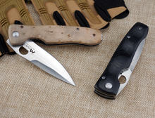 Japan Sharpest Folding Pocket Knife Two Style Tactical Survival Knife Black/Yellow Handle 1509#