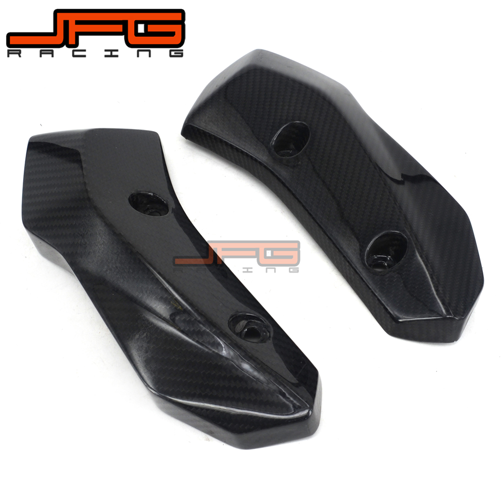 Motorcycle Carbon Fiber Side Radiator Cover Protection For YAMAHA MT-07 FZ-07 MT07 FZ07 MT FZ 07 2014 2015 2016 2017 14 15 16 17 2017 new black motorcycle radiator grille guard cover protector for yamaha mt07 mt 07 mt 07 2014 2015 2016 free shipping