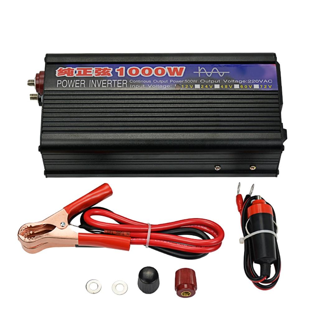 1000W Pure Sine Wave Inverter DC12V/24V To AC220V For Car Household DIY 16