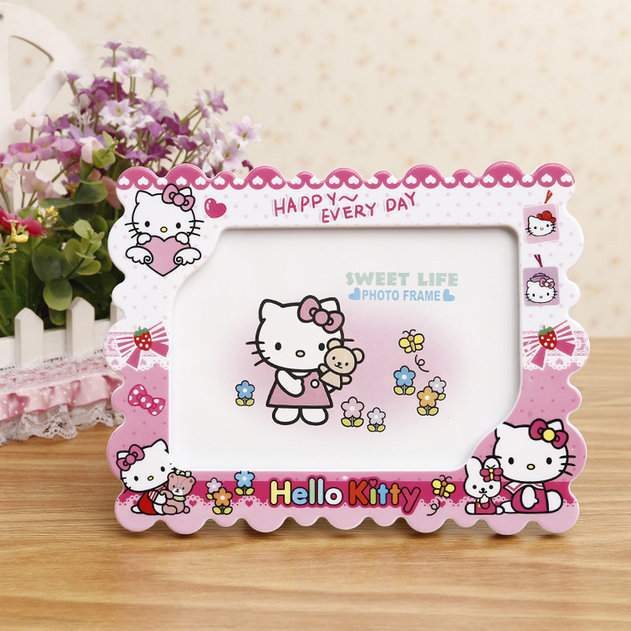 Hot sale 7-inch Doraemon Hello kitty cartoon cute character frame home decoration photo frame rotating double sided photo frame