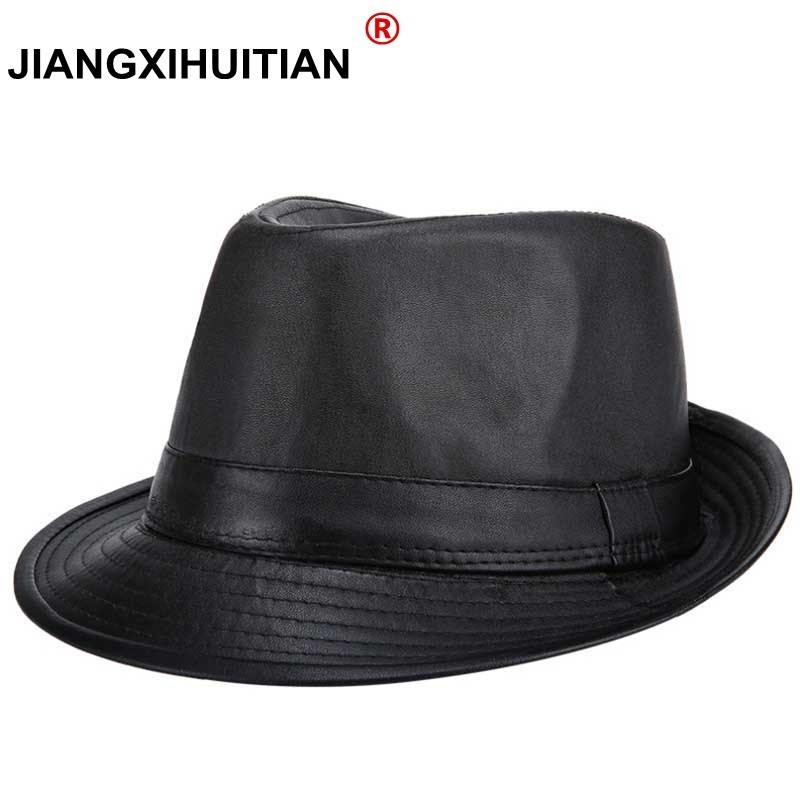 2017 new Sir Classic PU leather hat hat Men to restore ancient ways to keep warm warm Fast recovery fashion