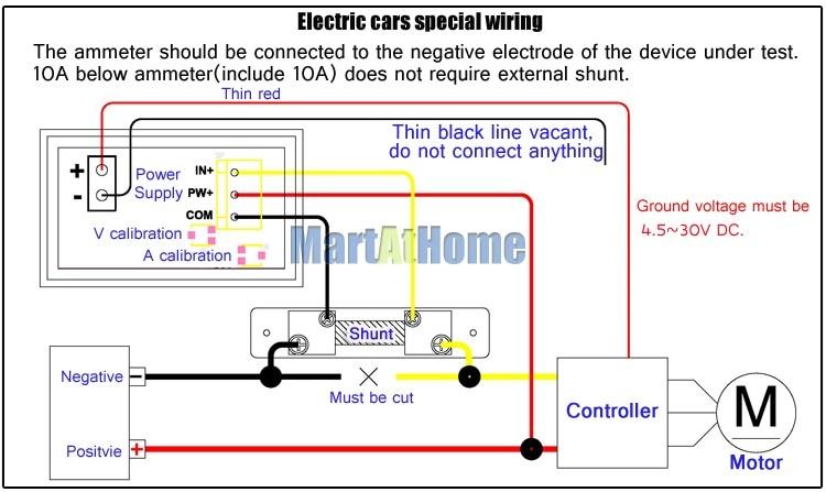 Argedo 2pcs Dual LED Digital Ammeter Voltmeter Current Voltage Meter DC 0 100V 10A for Car aliexpress com buy argedo 2pcs dual led digital ammeter voltmeter ammeter wiring diagram at fashall.co