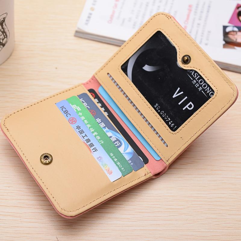Women wallets designer brand luxury women short wallet card holder Female Clutch Ladies wallets small and slim hand bag carteira 3