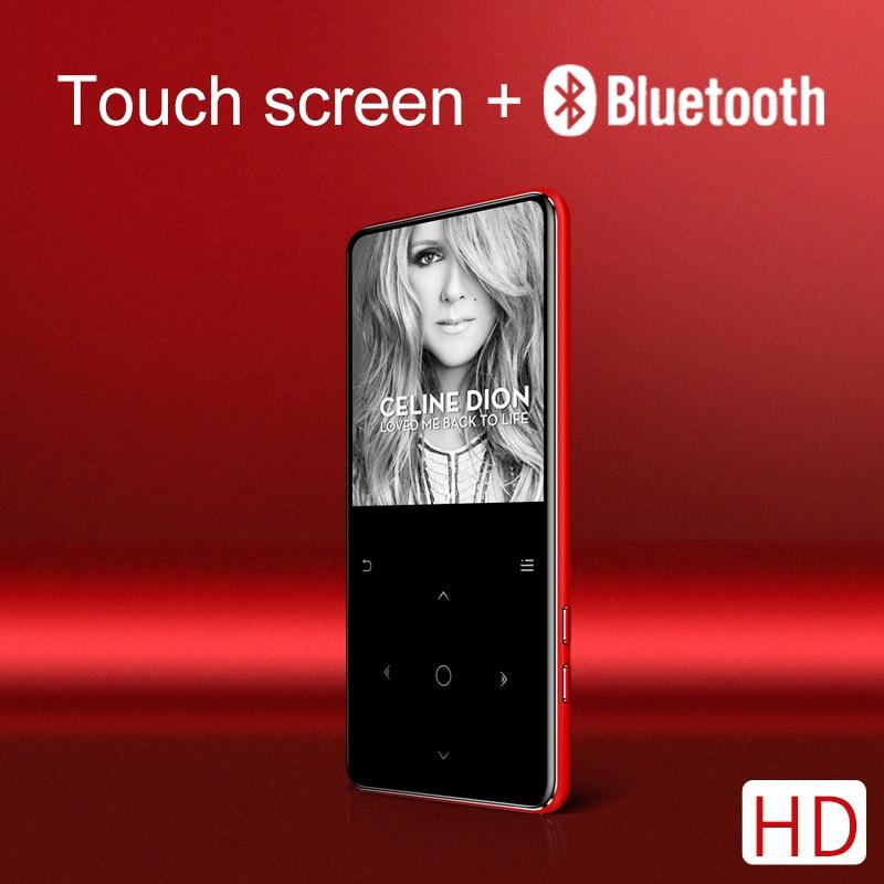 Nouvelle version longue lecture Bluetooth touch MP3 lecteur de musique bulit-in 16 GB et haut-parleur Slim walkman costume pour courir marche escalade