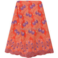 New Arrivals African Swiss Voile Lace High Quality With Stones New Fashion Cotton Lace Fabric For Women Dress SL0407