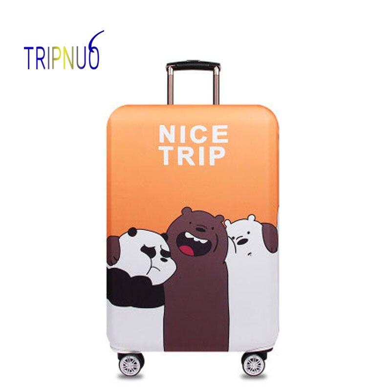 TRIPNUO эластичная ткань партнер медведь Чемодан защитная крышка, Suitable18-32 дюймов, троллейбус случае чемодан, дорожные аксессуары ...