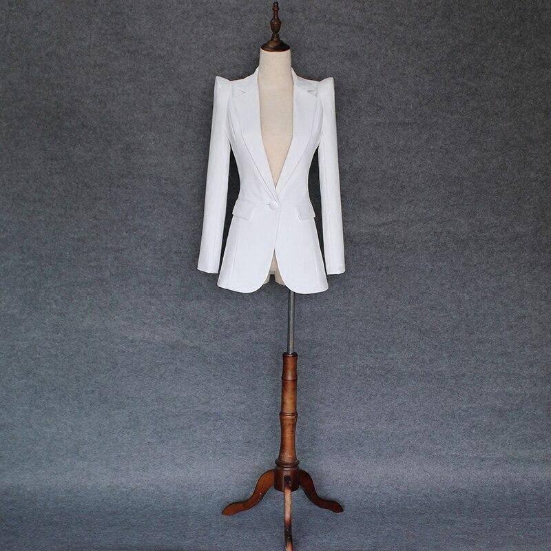Womens Elegant Autumn Winter Lapel Long Sleeve Tunic Slim Wear to Work Office Business Outwear Jacket Top Blazer