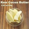3.53 oz raw base de manteca de cacao orgánico sin refinar aceite exquisito naturales 100g