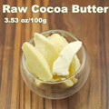3.53oz Raw Cocoa Butter Base Oil Exquisite Natural ORGANIC Unrefined 100g