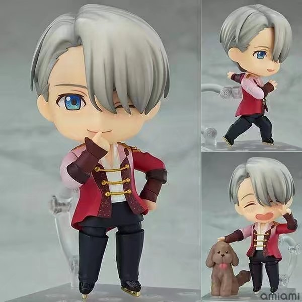 10cm YURI On ICE Nendoroid 741# Victor Nikiforov Anime Cartoon Action Figure PVC Toys Collection Figures For Friends Gifts