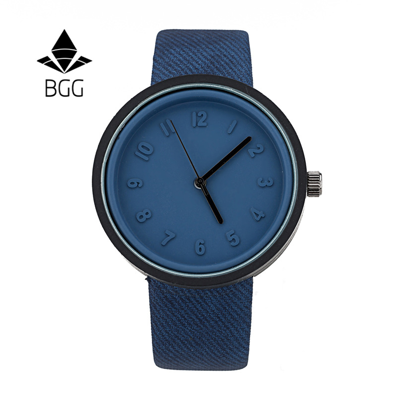 BGG Brand Luxury Men/Women's Watches Fashion male Casual wristwatch ladies Leather Quartz Watch students Rhinestone clock hours new 2017 women men casual watch ladies leather luxury watches men sport quartz wristwatch female simple clock hours