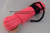 Pink 12mm*30m Synthetic Rope,Replacement Winch Cable,Off Road Rope,Towing Rope,Winch Rope Extension
