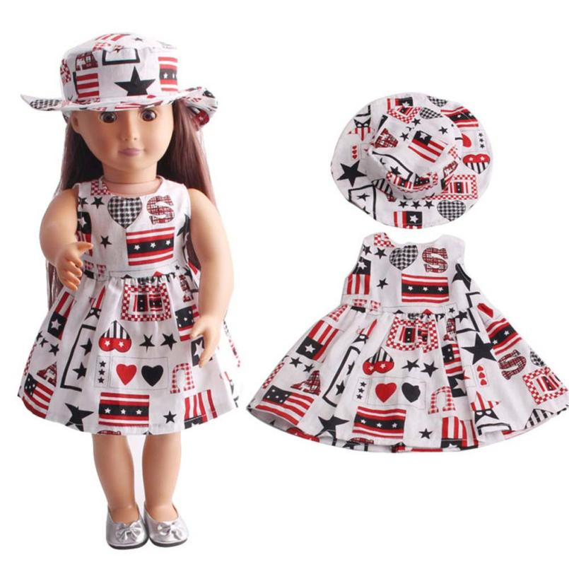 2018 HOT SALE High-Quality Skirt&Hat For 18 inch Our Generation American Girl Doll drop  ...