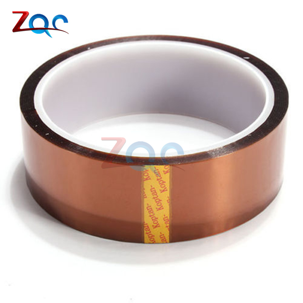 30mm x 30m High Temperature Resistant Heat Adhesive Tape Roll 100ft Polyimide Insulation Thermal Tape One side Self-adhesive free shipping 604 full zro2 ceramic deep groove ball bearing 4x12x4mm good quality high qaulity by haokun