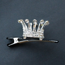 Смазливая Кристалл Рейнстон ханшайым Тиара Crown Hair Comb Clip Head Band