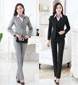 Las Mujeres formales Trajes de Negocios con Pantalón + Chaqueta + Chaleco 3 Unidades Set Moda Estilo Señoras de la Oficina OL Uniformes de Trabajo