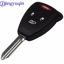 jingyuqin 4 Button Remote Key Shell For Jeep Chrysler Liberty Pacifica Sebring Aspen 300 Town PT Cruiser D-odge Magnum Charger