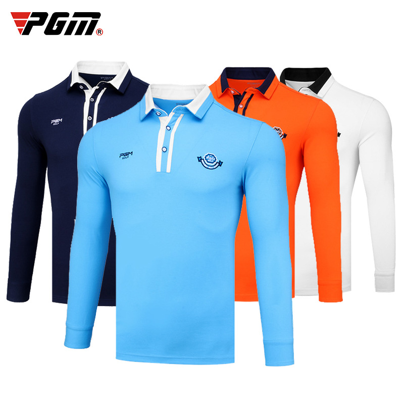 PGM Brands Clothes Wear Shirt Fit Apparel Men Full Long-sleeved T shirt Ball Windproof Ropa Male Golf Clothse Table Tennis Shirt
