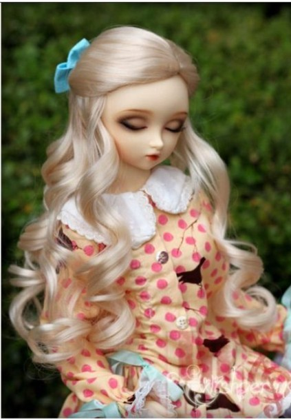 JD028 1/12 Lati white BJD doll wig 3-4 inch tiny doll Synthetic Mohair Wigs Alice Fantasy BJD doll accessories 8 9 bjd wig silver knights of england volume mohair wig spot