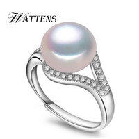 CYTHERIA 100 Natural Pearl Rings Perfect Round Natural Freshwater Pearl 925 Silver Ring Rings For Women