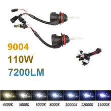 2Pcs H4/H13/9004/9007 55W Xenon Hid Lights Double Beam With Wire Set 6000K 8000K 10000K 55W Xenon Hid Headlamp Bulbs H4 9007