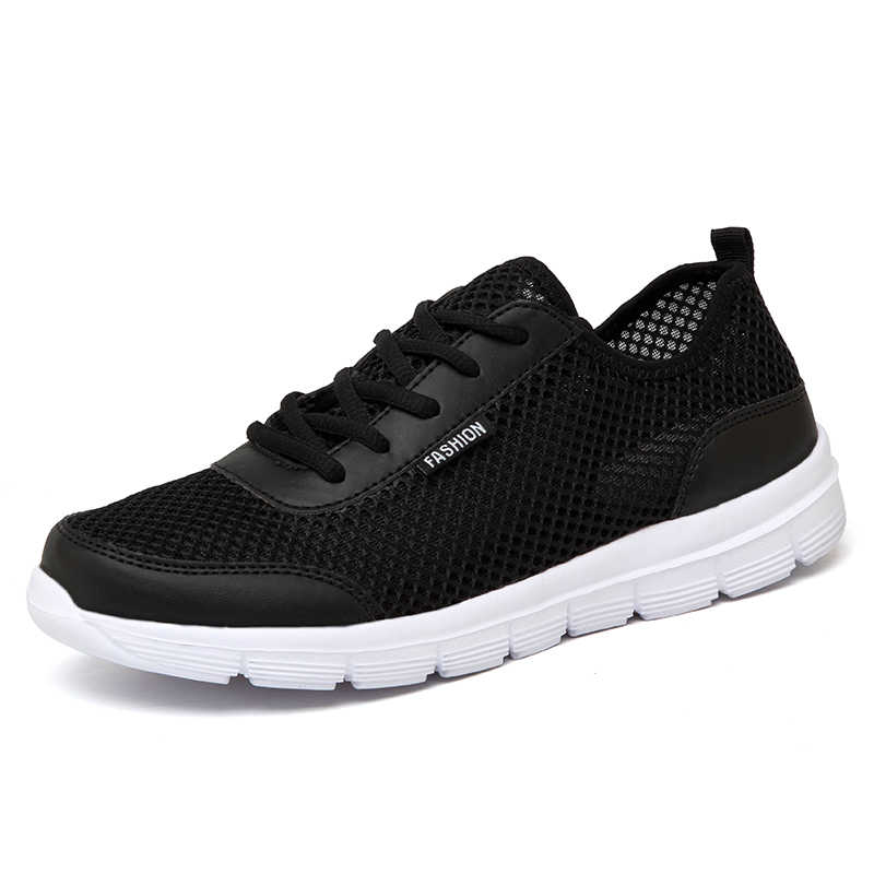 f23a92f7c87b ... Summer Casual Shoes For Men 2018 Fashion Breathable Mesh Lace up Lover Shoes  Men Flats Sneakers ...