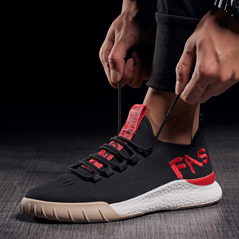 BomKinta Fashion Letter Decoration Casual Shoes Men Fly Weaving Walking Men  Shoes Breathable Sneakers Men Outdoor Male Footwear-in Men s Casual Shoes  from ... 31bc62e21ff8
