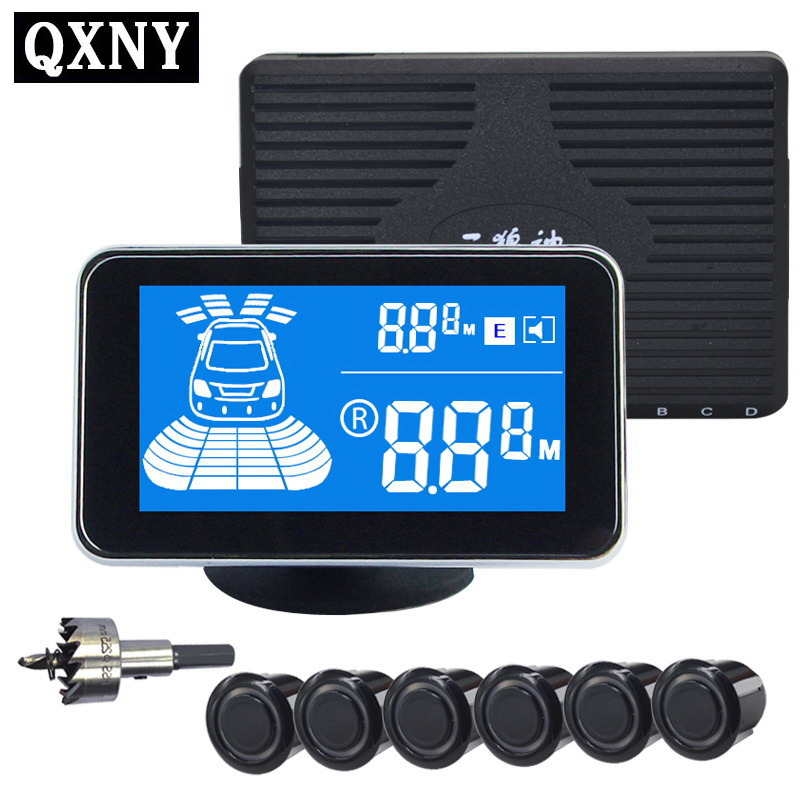 6/sensors NY2020 Car LCD Parking Sensor Kit Display for all cars parking assistance reversing radar luces led de policía