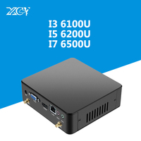 6th Gen Intel Core i3 i5 i7 Mini PC Windows 10 4 К с HDMI VGA USB3.0 300 м Wi Fi DDR4 Оперативная память ТВ Box Micro PC NUC настольный компьютер