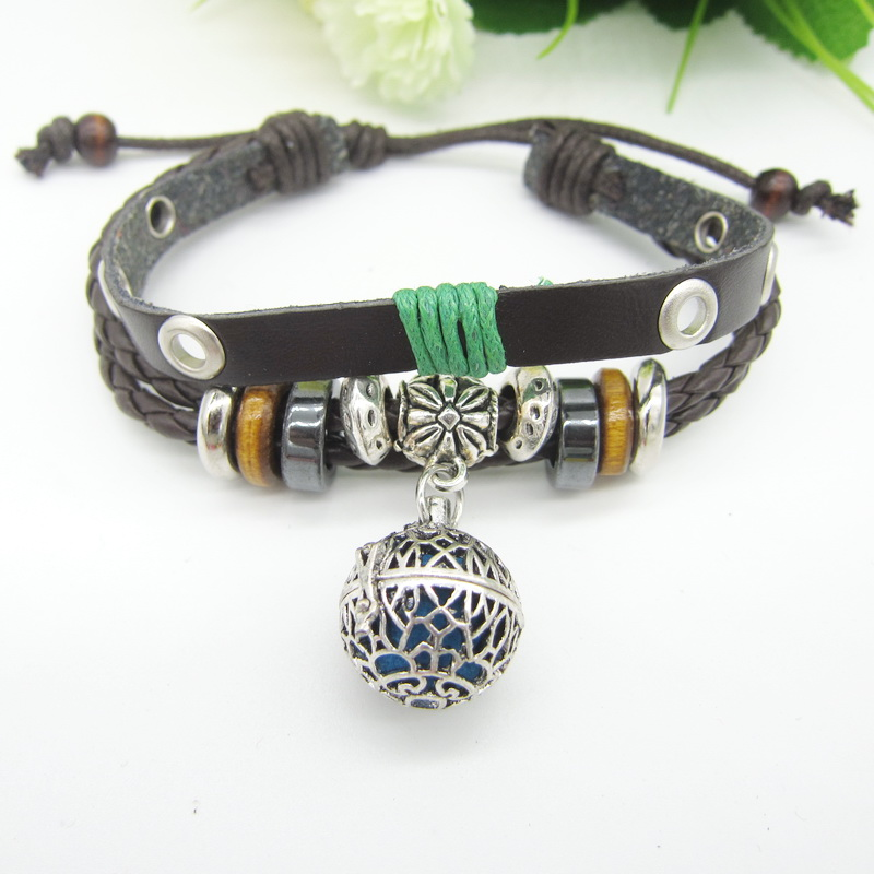 Leather Oil Diffuser Bracelet