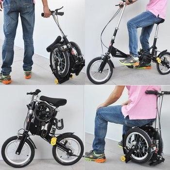Mini bicicleta dobrável portátil mountain road quadro de alumínio da cidade esportes bicicleta com freios mecânicos
