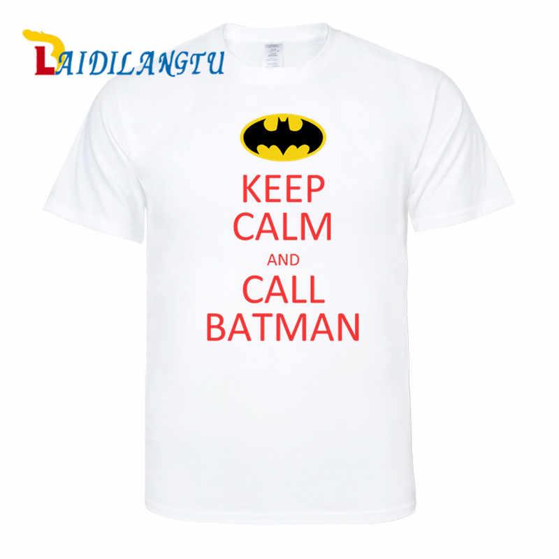 Мужские футболки наивысшего качества, сохраняющие спокойствие и вызов, принт Бэтмена, модная мужская футболка с коротким рукавом, мужские футболки, топы, мужские футболки