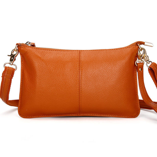 Genuine Leather Candy Color Day Clutches