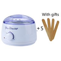 Warmer Wax Heater Hair Remove Wax Machine 5 Pcs Wooden Sticks Emperature Control Depilatory Paraffin Health