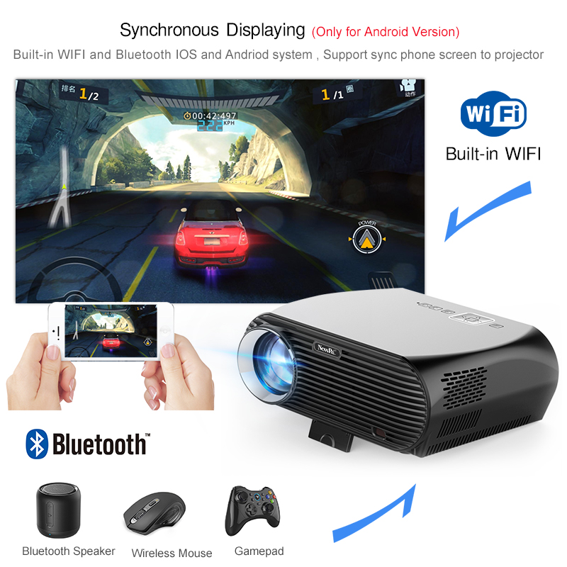 Projecteur Newpal GP100UP projecteur LED 4K Home Cinema 3500 Lumens Full HD 1080P Android 6.01 WIFI Bluetooth Miracast Beamer TV - 2