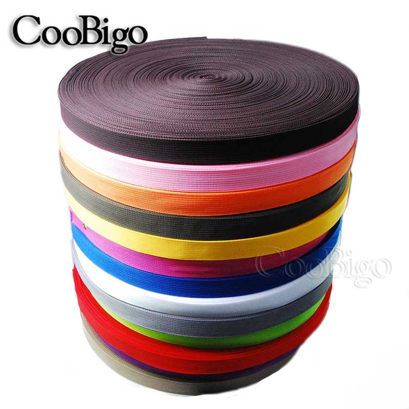 100yards Pick Mixed Colorful 1 25mm Polypropylene PP Webbing Ribbon Band Strap Dog Collar Harness Outdoor