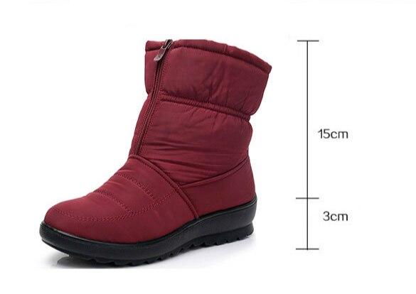 Snurulanpromotion botas de neve mulher tornozelo plataforma