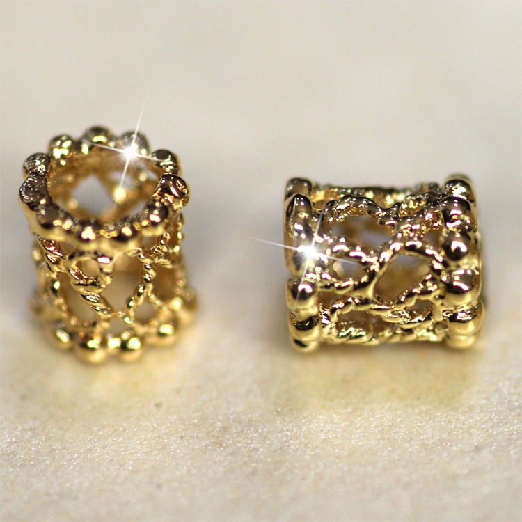 high quality jewelry components filigree tube gold easy jewelry making 0.6*0.5*0.5cm