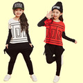 2016 new fashion teenage toddler girls clothing set for teen girl children spring coat korean kids clothes 2pcs sets