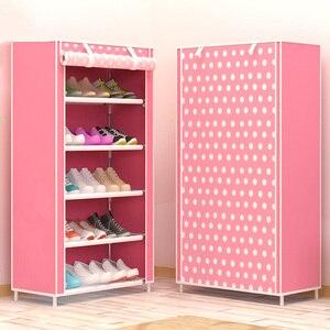 Image 1 - 靴ストレージ主催ミニマリスト現代の家庭用家具靴キャビネットリビングルーム寮 DIY 折りたたみ靴ラックキャビネット