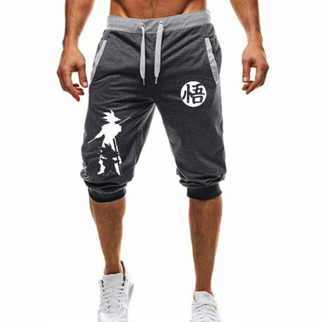 2019  Hot-Selling Summer New Man's Shorts Casual Shorts Fashion Dragon Ball Goku Print Sweatpants Fitness Short Jogger M-3XL