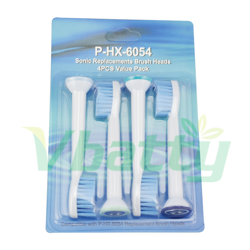 1022 4Pcs/Pack Electric Toothbrush Heads P-HX-6054 Replacement Philips Sonicare Sensitive Toothbrush Heads