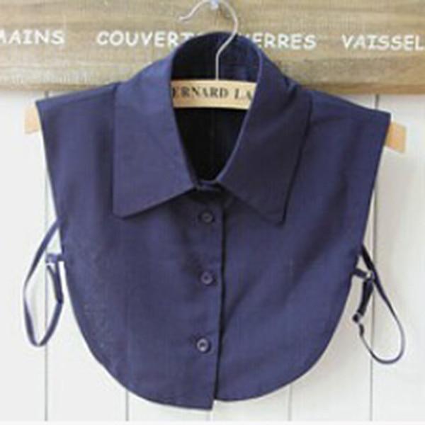Women Girls Fake Collar Detachable Lapel Shirt Peter Pan Choker Necklace