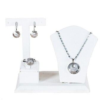 LAN дворец роскошный круглый фианит комплект ювелирных изделий дамы jewellery наборы для женщин Бесплатная доставка
